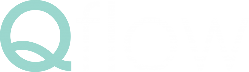 Qflow logo with white text