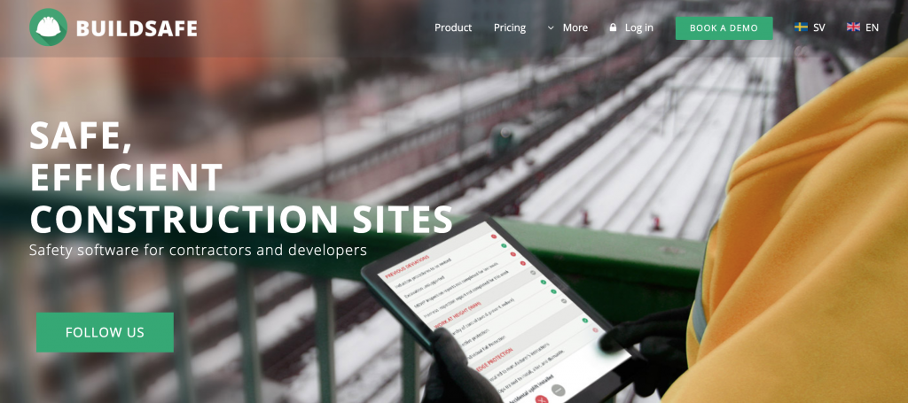 Buildsafe's website home page