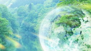 Environment wallpaper with globe