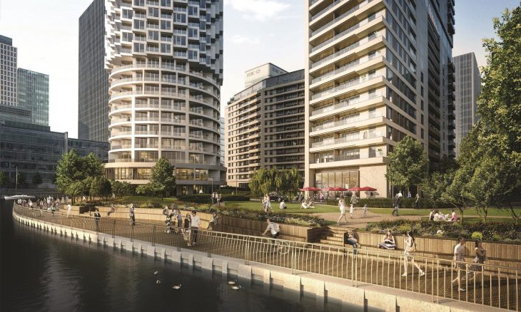 Wood Wharf development in Canary Wharf