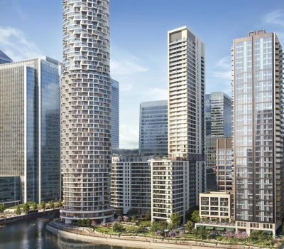 Canary wharf Wood Wharf project site London